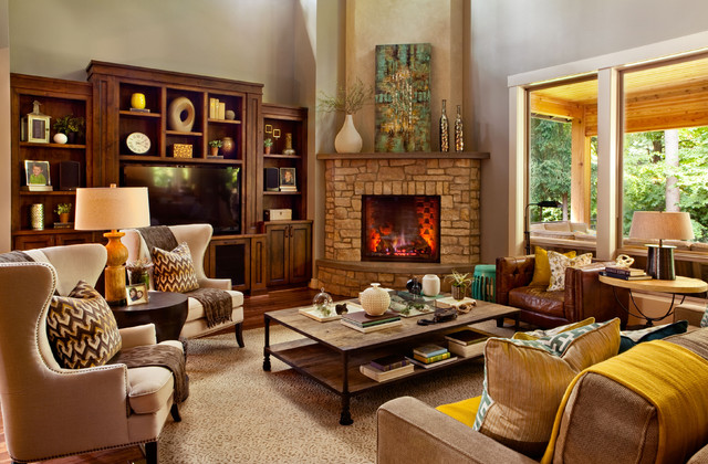 Danish Revival Luxe Transitional Living Room
