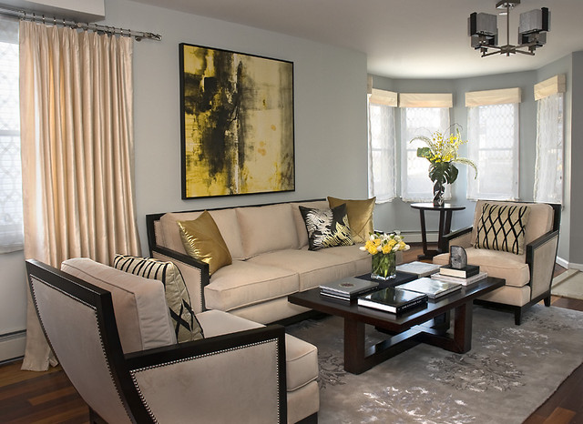 Transitional Living Room Contemporary Living Room New York By Decorating Den Interiors