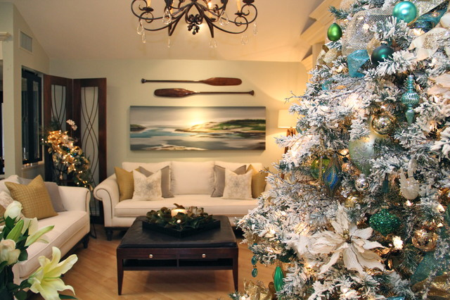 Christmas Decorations With Beach Theme Transitional