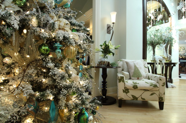 Christmas Decorations Transitional Living Room San