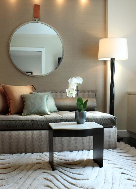 Contemporary Den transitional-living-room