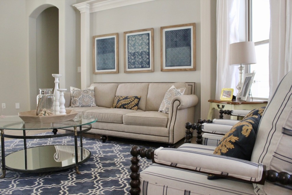 Transitional Living Room - St Johns County