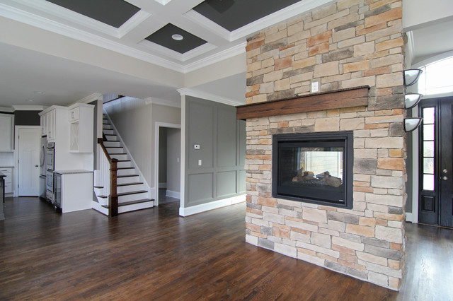 Two Sided Fireplace Transitional Living Room Raleigh By