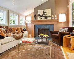 Mill Valley, CA transitional-living-room