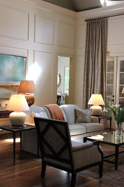 Valerie Deroy Interiors transitional-living-room