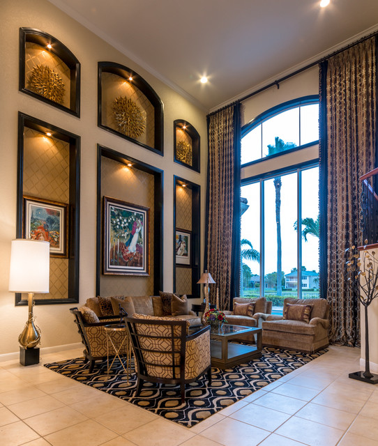 Transitional luxury living room and foyer transitional for Transitional foyer ideas