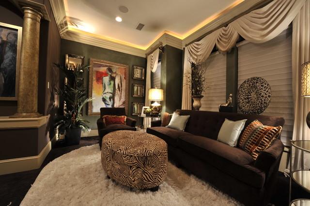 Remodel Interior Design Desai, T. - Transitional - Living Room ...