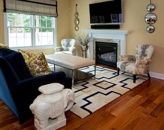 Transitional Spaces eclectic living room