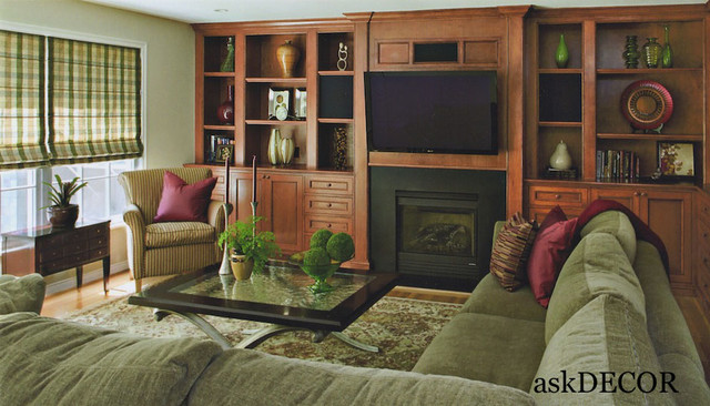 Transitional Style Family Room traditional-living-room