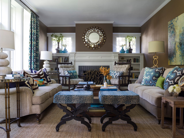 Light Sconces For Living Room Transitional Style Living Space - Contemporary - Living ...