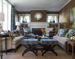 Transitional Style Living Space contemporary living room