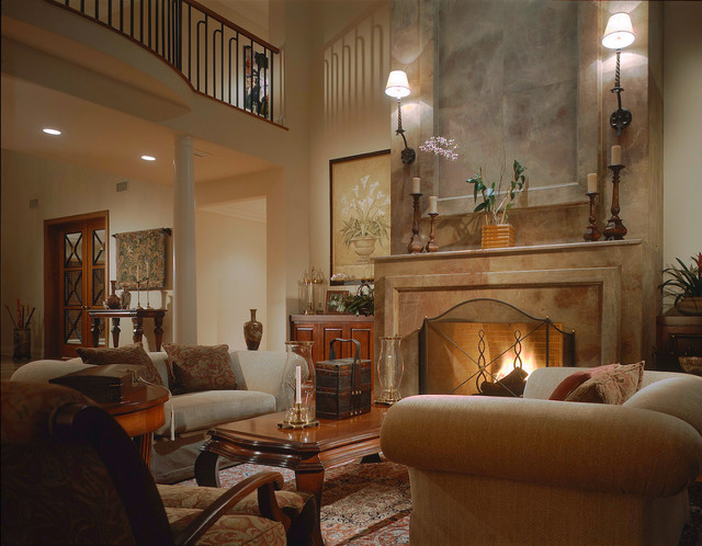Transitional Style Residence Traditional Living Room Miami By Dianne Joyce Design Company
