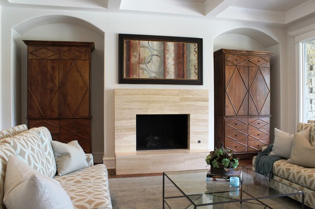 Transitional texas style for Texas themed living room