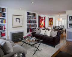 Transitional West Hollywood Condo Makeover contemporary-living-room