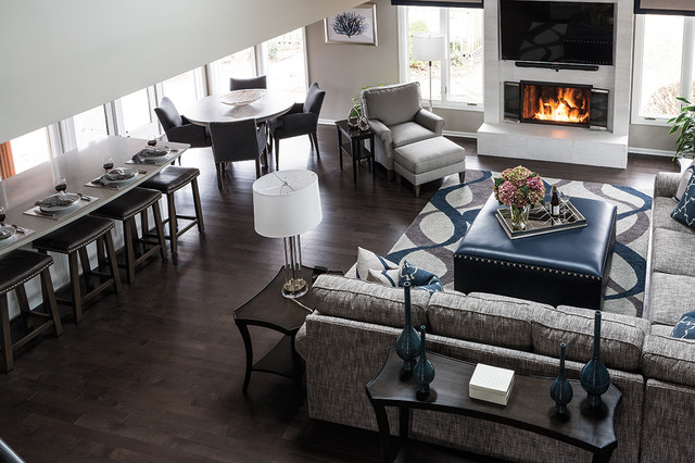 Transitional Whole Home Remodel In, Home Rooms Furniture Kansas City Ks