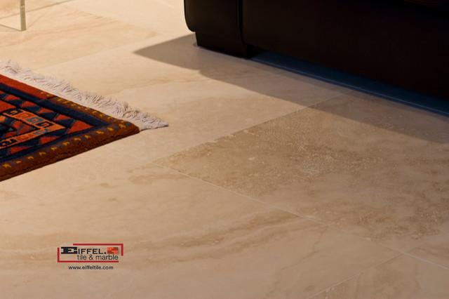 Travertine Floor Tile Baja Medium Transitional