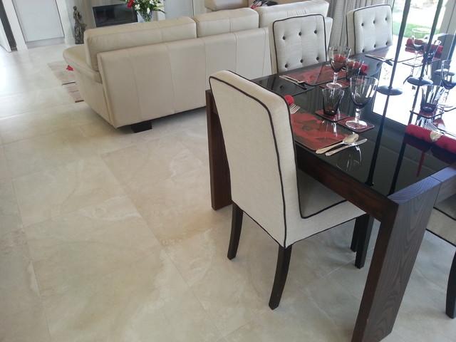 Travertino Bone - 45 Capriana Dr, Karaka contemporary-floor-tiles