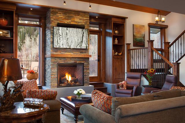 Tree Haus Renovation Rustic Living Room Denver By
