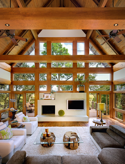 Tree House-Kiawah Island contemporary living room