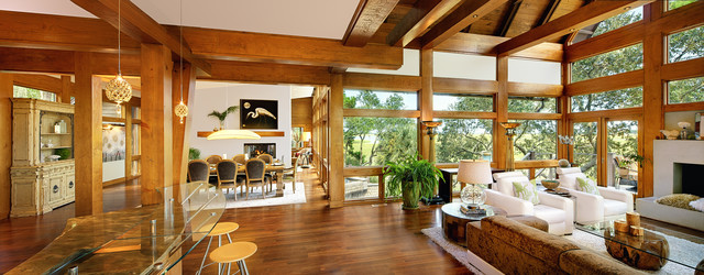 Tree House Kiawah Island Modern Living Room