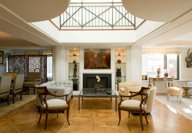 Tremont Street Penthouse contemporary-living-room
