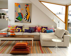 Cosy sofa contemporary family room