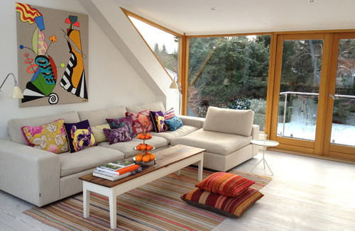 Cosy family sofa contemporary living room