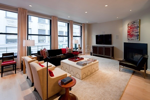 tribeca apartment contemporary living room new york