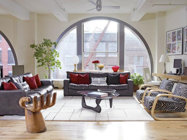 Tribeca Loft Living Room Modern Living Room Los