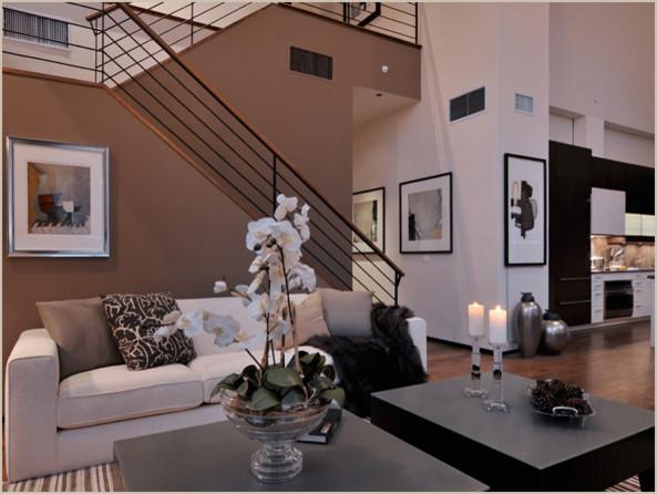 Tribeca Loft contemporary-living-room