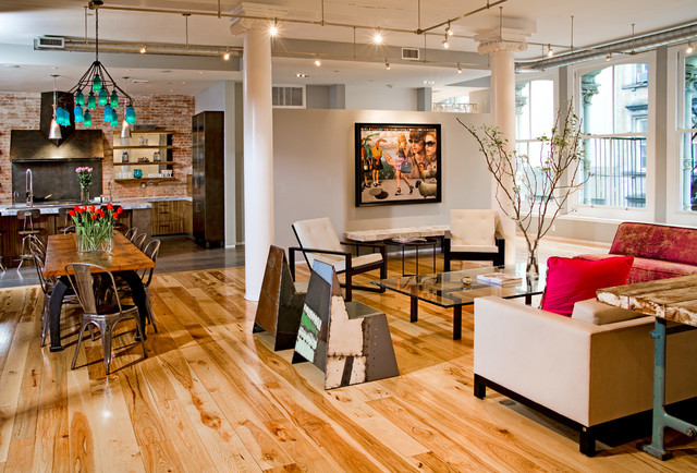 Tribeca Loft Industrial Living Room New York By
