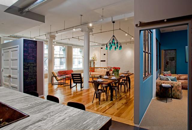 Cocina/ comedor   ventana entre dos espacios interiores