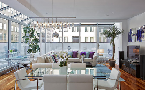 Contemporary Living Room by New York Interior Designers & Decorators Marie Burgos Design