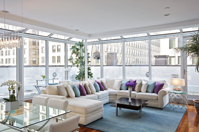 Marvelous Tribeca Penthouse Contemporary Living Room