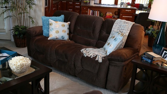 Triple Play Reclining Sofa Contemporary Living Room San Diego By Jerome 39 S Furniture