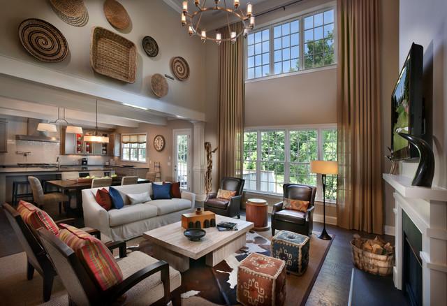 Triveny Neighborhood Model Home Traditional Living Room