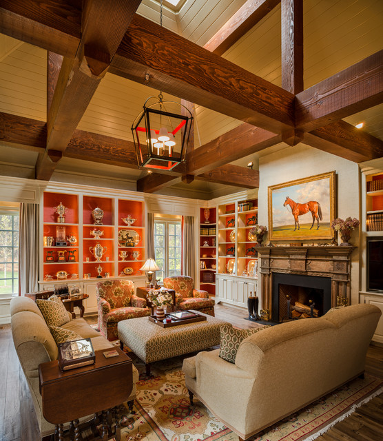 Trophy Room Traditional Living Room Philadelphia By Archer Amp Buchanan Architecture Ltd