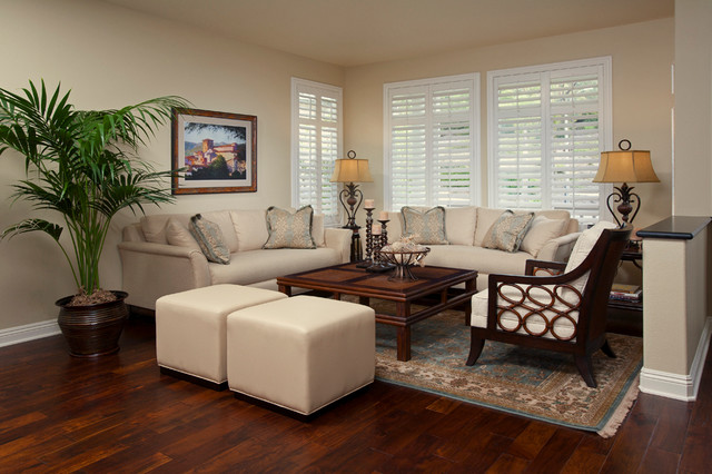 San Clemente Tommy Bahama - Tropical - Living Room - orange county - by Design Focus
