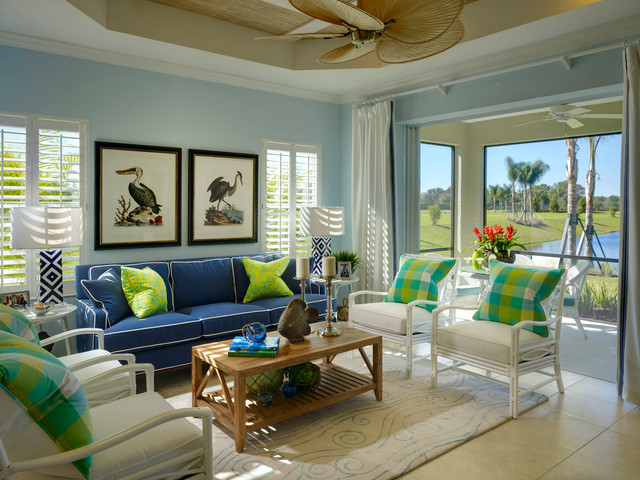 Inspiration For A Tropical Living Room Remodel In Tampa