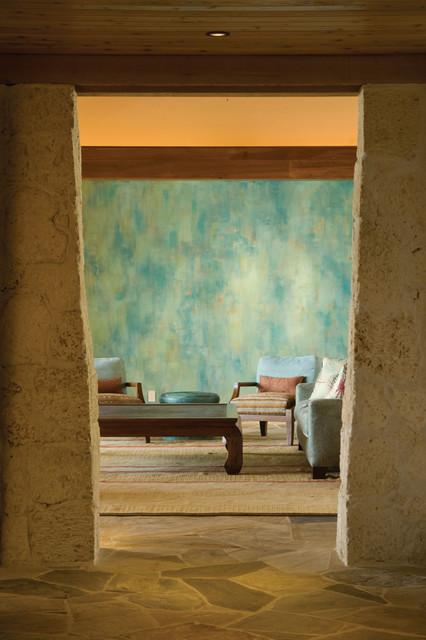 Modern Perch tropical-living-room