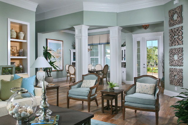 The Laurel Cottage Coastal Design Tropical Living Room Other Metro By