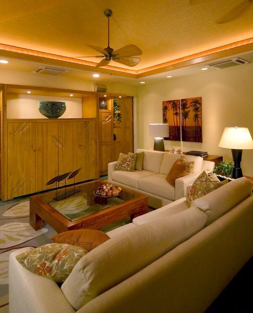 Contemporary Tropical Living Room Tropical Living Room
