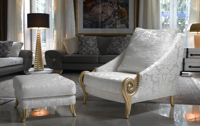 coleccion alexandra furniture accessories troya armchair and footstool traditional living room alexandra furniture