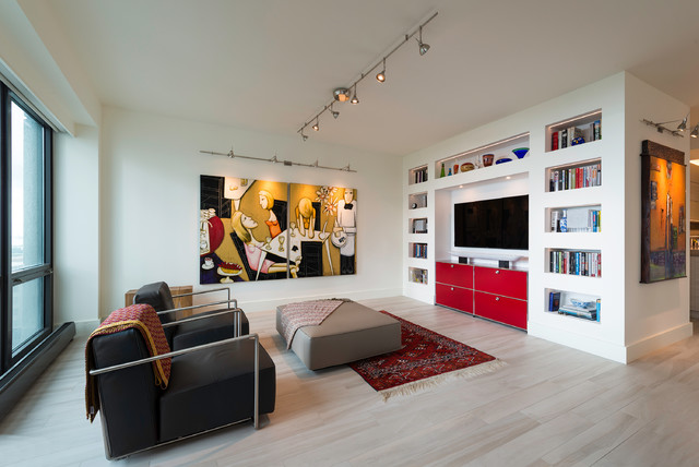 TruLine .5 LED by Pure Lighting  |  Monorail and Wall Monorail with FJ Spirit He contemporary-living-room