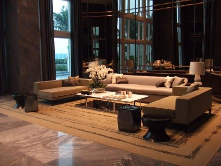 Trump hollywood lobby contemporary living room miami for Living room 0325 hollywood