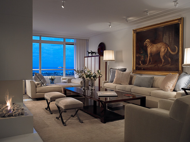 Trump Plaza Penthouse Contemporary Living Room Other