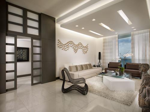 Living Room with False Ceiling Design