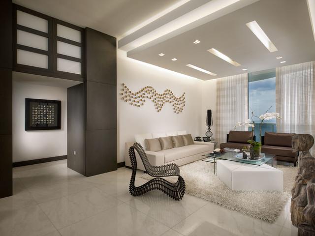 Trump Tower contemporary-living-room