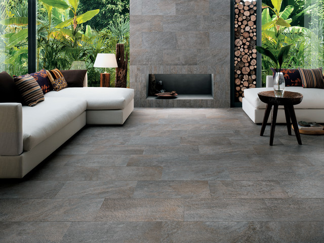 Exceptional Trust Series   Porcelain Tiles Range Contemporary Living Room Pictures