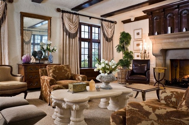 Tudor Mansion Traditional Living Room Other By